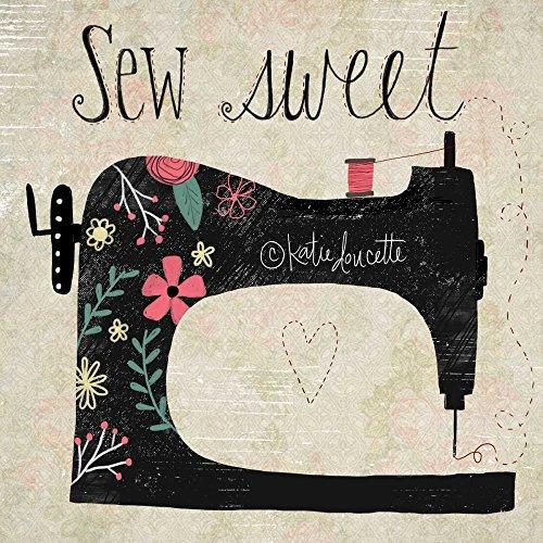 AFDRUKKEN-op-GEROLDE-CANVAS-Sew-Sweet-Doucette-Katie-Keuken-Afbeelding-gedruckt-op-canvas-100%-katoen-Opgerolde-canvas-print-Kunstdruk-op-gerold-canvas-voo-Afmeting-81_X_81_cm