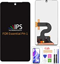 Compatible with Essential Phone PH-1 LCD Display Screen Replacement,for Essential Phone PH-1 5.7 Inch Display LCD Panel Repair Parts Kit,with Tempered Glass+Tools(Black)