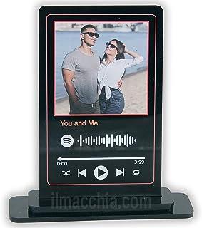 Targa spotify personalizzata con foto e musica che preferisci su plexiglass nero