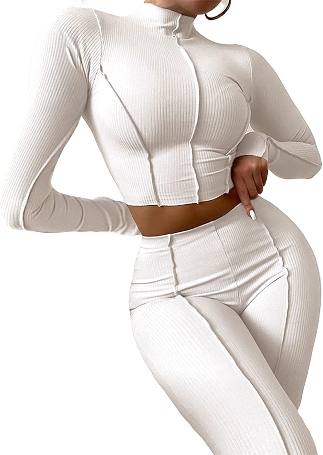 Atlanta Mall Glamaker Women's Bodycon Workout Cheap sale Outfits Crop Long Sleeve T Sexy