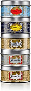 Kusmi Tea- Russian Blends - Gift Set of Russian Tea Blends including Earl Grey, Prince Vladimir, St. Petersburg & More! - All Natural, Premium Loose-Leaf Russian Teas in 5 Eco-Friendly Tins