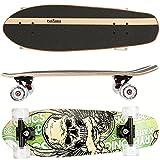 FunTomia Skateboard 66cm - 7ply Strati di Acero Canadese - con o Senza Ruote a LED...