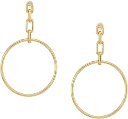 French Connection Link Frontal Hoop Earrings