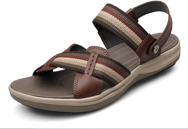 LIANGXIE Men's Sports Outdoor Sandals Beach shoes Men's Sandals Two Wear Thick-soled Velcro Fashion shoesZHANGM