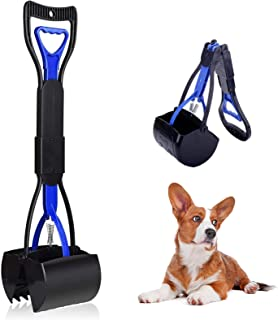 Mein HERZ Pedagogisk skopa för husdjur, pooper Scooper, vikbar hundkotskopa för gräs med långt handtag, vikbart hundskräp ...