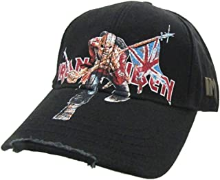 Iron Maiden Trooper Distressed Black Baseball Hat Cap