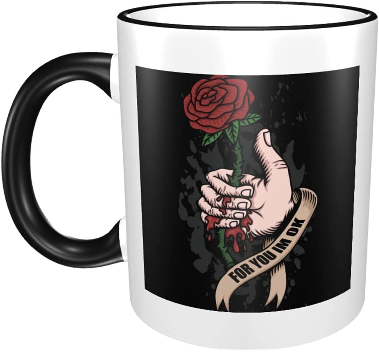 Rose Flower 11oz Large Coffee Mugs Print Genuine Free Shipping Ex Ceramics Fashion Cup Today's only