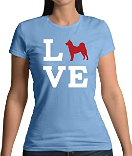 Love Akita Dog Silhouette - Womens T-Shirt - 13 Colours