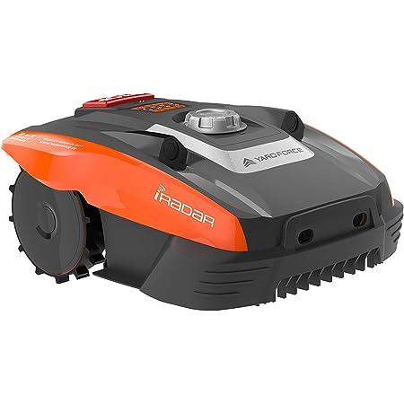 Yard Force Mähroboter COMPACT 280R, geeignet für Rasenflächen bis zu 300 qm-mit iRadar Ultraschallsensor, Kantenschneide-Funktion, Regensensor und bürstenloser Motor, 20 V, schwarz/orange