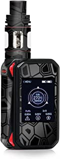 Skin Decal Vinyl Wrap for Smok G-Priv 2 230w touch screen Vape stickers skins cover/ Black Silver Design