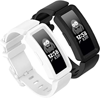 GVFM Compatible with Fitbit Ace 2 Bands for Kids 6+, Soft Silicone Bracelet Accessories Sport Strap Boys Girls Wristbands Compatible for Fitbit Ace 2