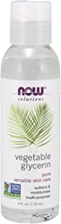 Best NOW Solutions, Vegetable Glycerin, 100% Pure, Versatile Skin Care, Softening and Moisturizing, 4-Ounce Review