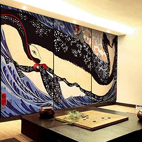 TDYNJJ Mural Carta Da Parati - Pittura Creativa Del Ristorante Ukiyo-E Di Stile Giapponese - Fotomurali In Tnt Murale Decor Da Muro Poster Gigante Design Decorazione Regalo Ragazzo