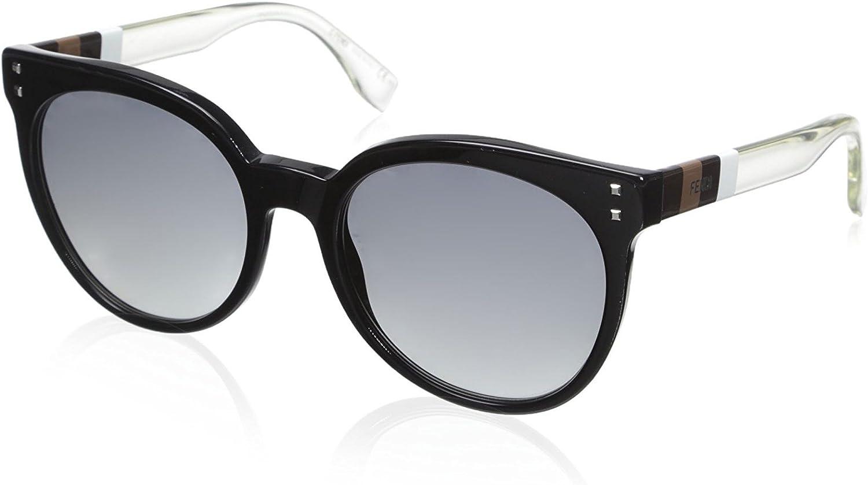 Fendi Women's 0083 S Sunglasses, Black White Crystal