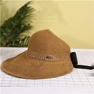 ZiWen Lu New Long 檐 Fashion Versatile Foldable Refreshing Visor (Color : Brown, Size : M56-58cm)