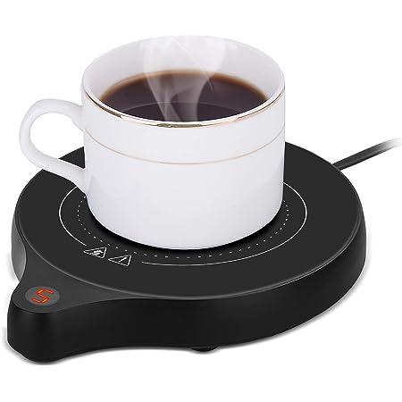 2021年の新しいコーヒーカップウォーマーとオフィスウォーマー、5つの温度設定を備えた電気飲料ウォーマー、ココアミルク用のコーヒーウォーマー、オフィス用の自動オン/オフ重力センサーウォーマー、キャンドルワックスカップ、コーヒー 、 水/牛乳/お茶/コーヒードリングなど飲み物 PSE安全認証済