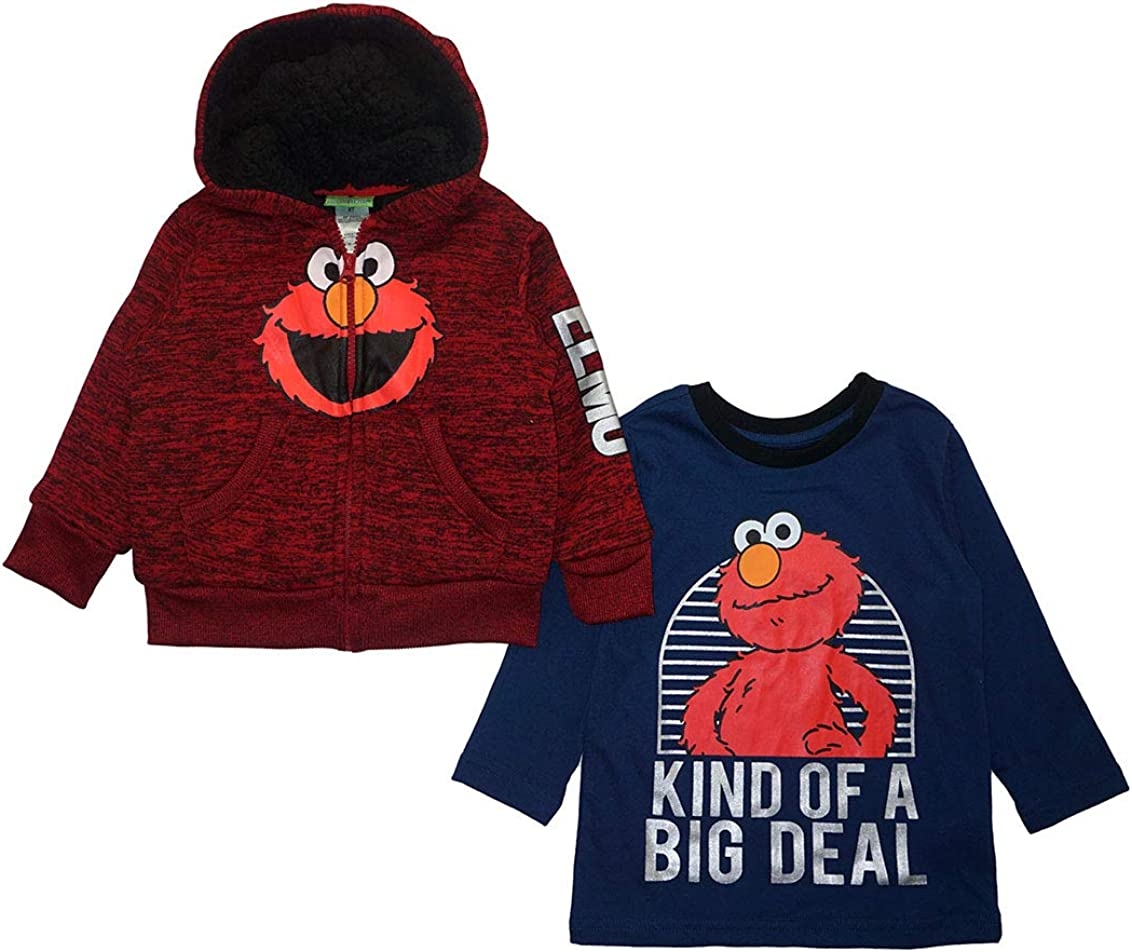 Sesame Street Max 70% OFF Little Boys Sherpa Lined Top S L Ranking TOP3 Hoodie Set 2pc