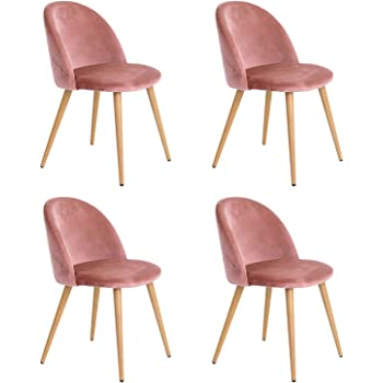 NA Set 246 Velvet Esszimmerstühle Moderne Freizeitstühle