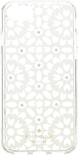 Jeweled Floral Mosiac Clear Phone Case for iPhone 8