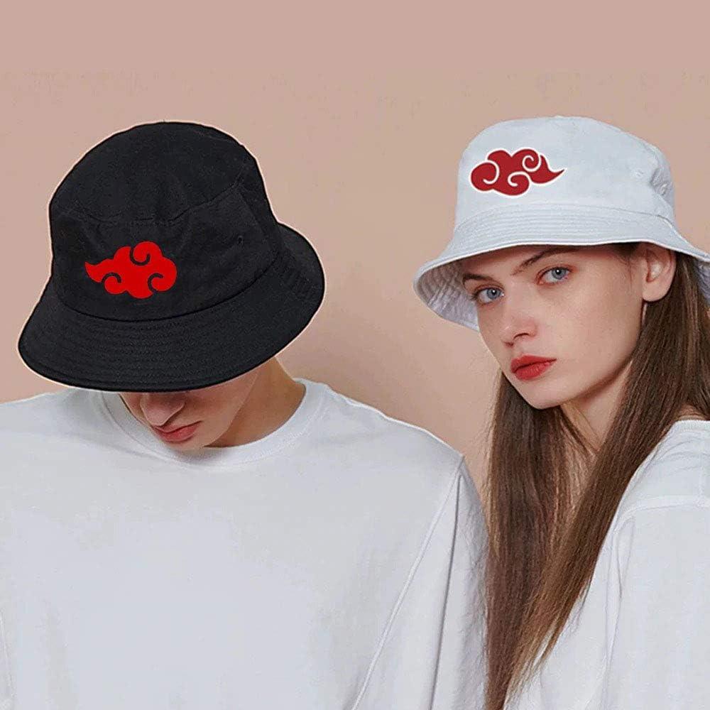 Red Cloud Printed Bucket Hat Women Men Outdoor Summer Hiking Fishing Hat Panama Naruto Akatsuki Fisherman Hat Cap