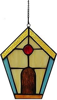 Alivagar Stained Glass House Window Hangings Suncatcher Village, 6