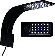 10W Super Slim Aquarium Fish Tank 5730 LED Light Clip-on Lamp Aquatic Plant Lighting (Black Body White+Blue Light)