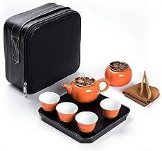 FACAIA Przenośny podróżny zestaw herbaty (kolor: Jeden garnek i cztery szklanki 2)