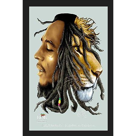 Bob Marley Lion Miroir Mirror Miroir mural bar fête cave bar 30 cm