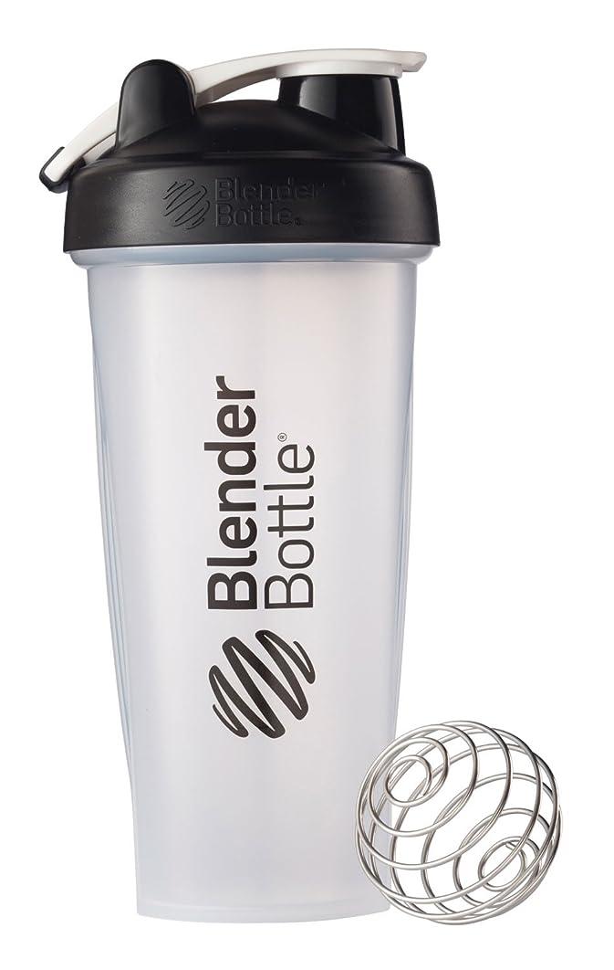 値する接触特権的Blender Bottle(ブレンダーボトル) 【日本正規品】 Blender Bottle Classic w/Loop Clear 28オンス BBCLWL28 BK