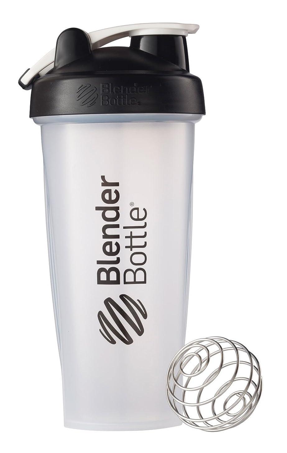 BlenderBottle Classic Loop Top Shaker Bottle, 28-Ounce, Clear/Black