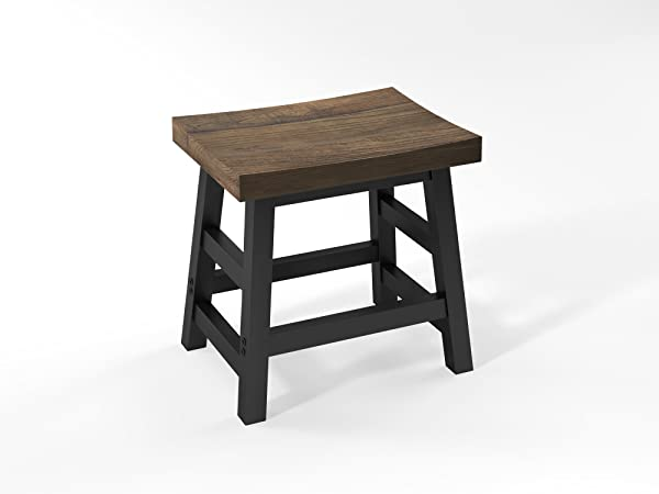 Sonoma 20 H Reclaimed Wood With Metal Legs Barstool Natural