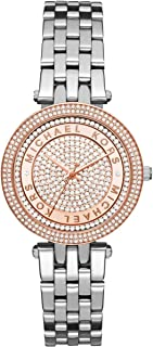Michael Kors Mini Darci Women's Rose Gold Pave Dial Stainless Steel Band Watch - MK3446