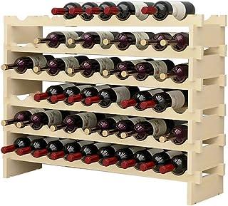 MCKEYEN Casier à vin étagère à vin en Bois Support de Stockage de vin empilable sur Pied et étagère de Rangement à vin de ...