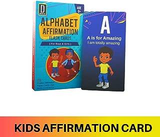 Darlyng & Co.'s Modern Alphabet Affirmation Flash Cards for Kids ABC Flash Cards (ABC Affirmation Flash Card for Boys & Girls)