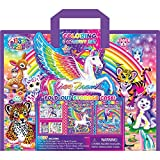 Bendon Lisa Frank Coloring & Activity Set with Fold Out Storage Case