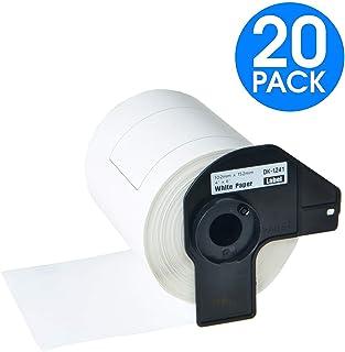 KCYMTONER 10 Rolls Compatible Brother DK-1208 Die Cut Large Address Shipping Paper Labels 38mm x 90mm for QL-500 QL-550 QL-650TD QL-700 QL-1050 QL-1060N Printer with 10 Snap-On-Frame 1-1//2 x 3-1//2