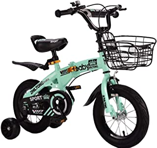 """TWTD-TYK Kid's Bike,Children's Bike, Kids Bike,Girl Children's Bicycle Suitable for 3,4 Years in Size 12"""" 14"""" 16"""" 18"""" with Brake and Basket"""