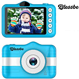 BLESSBE Digital Selfie Camera for Children Cute Camcorder Video Recorder Digital Camcorders (Blue)- BB18