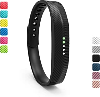 Wekin Replacement Wrist Band Compatible for Fitbit Flex 2, Soft Silicone Accessory Wristband Strap for Flex 2 Sports Classic Fitness Tracker