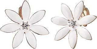 Clip on Earrings for Women Sparkly Crystal Elegant Cubic Zirconia Non Pierced Earrings