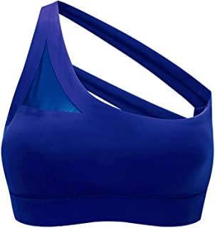 Sports Bra Running One-Shoulder Sports Bra Cup Seamless Low-Impact Fitness Bra Women's Yoga Running Aesthetics Gather Beau...