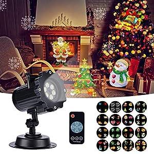 Proyector de luces de Navidad, KINSO Diseño único de 18 ...