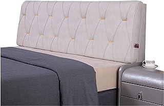 WENZHE Cabecero Cama Cojines Tapizado Cojín Lectura Almohadas, Almohadilla Cintura Suave Impermeable Duradera, Usar Diseño Cama Dormitorio, Tamaño Personalizable (Color : White, Size : 120x58x10cm)