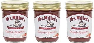 Mrs. Miller's Homemade Jam, Rhubarb-Strawberry, 9 OZ (Pack of 3)