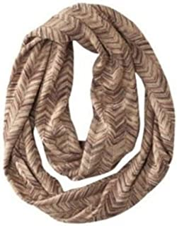 Missoni for Target Women's Infinity Scarf - Brown/Gold Chevron Zig Zag