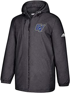 Grand Valley State Lakers NCAA Men's Primary Logo Black Game Built Full Zip Heavyweight Jacket