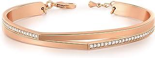 GEORGE · SMITH ❤ Cadeau pour Maman Bracelet Or Rose Bracelet Femme Swarovski Ajustables avec Zircone 5A- élégant Bijoux de...