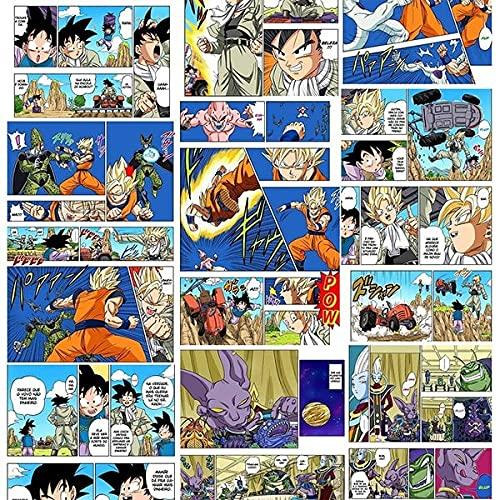 Papel de Parede Adesivo Autocolante Anime Manga Goku Dragon Ball Super Decoração Quarto Sala