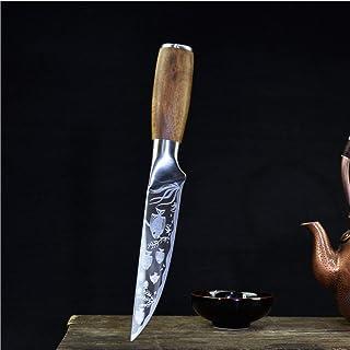 Couteau de chef de cuisine professionnelle couteau à éplucher à la main de désossage pointu pleine coupe-légumes tang cuis...