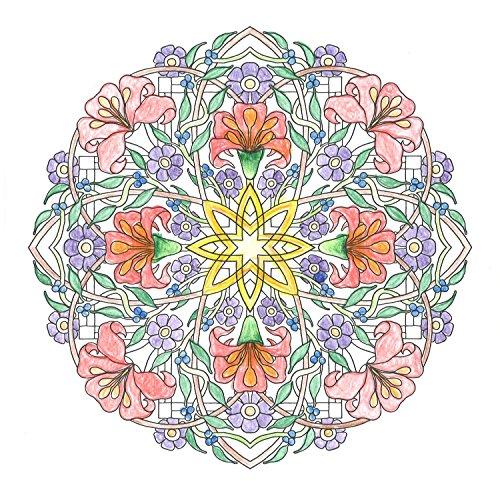 『flower mandalas 心を整える、花々のマンダラぬりえ』の8枚目の画像